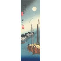 佃島海辺朧月