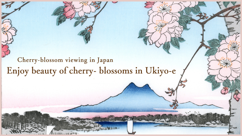 Cherry-blossom viewing in Japan Enjoy beauty of cherry- blossoms in Ukiyo-e