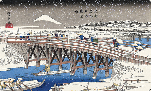 Nihonbashi Bridge in Snow