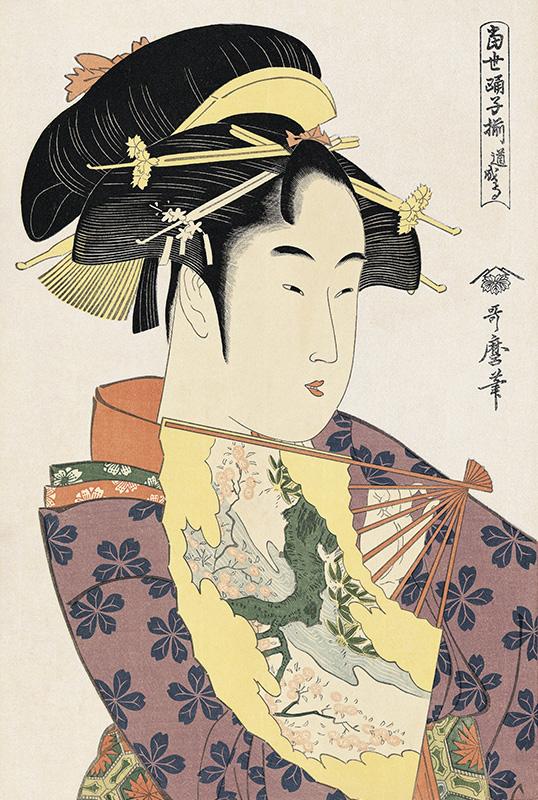 喜多川歌麿「娘道成寺」
