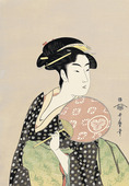 Ohisa of Takashiamya Holding a Fan