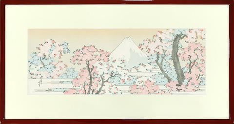 葛飾北斎「桜花に富士図」