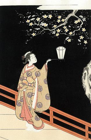 鈴木春信「夜の梅」