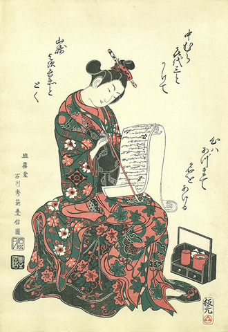 The Actor Nakamura Kiyosaburo as a Courtesan Reading a Letter