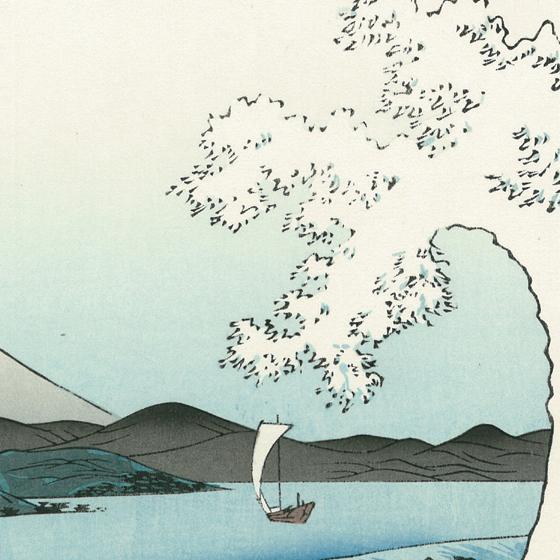 激しく飛沫を上げる大波は、どこか北斎の「神奈川沖浪裏」に対抗するような構図です。