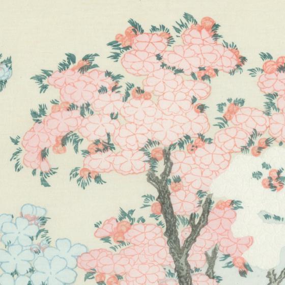 桜花に富士図