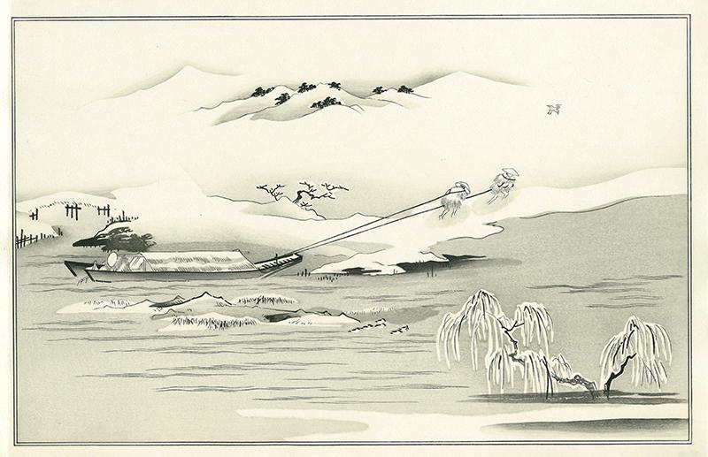 喜多川 歌麿「雪の曳舟(銀世界)」 期間限定公開 絵のみ 13,000円