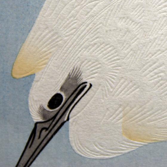 菖蒲に白鷺