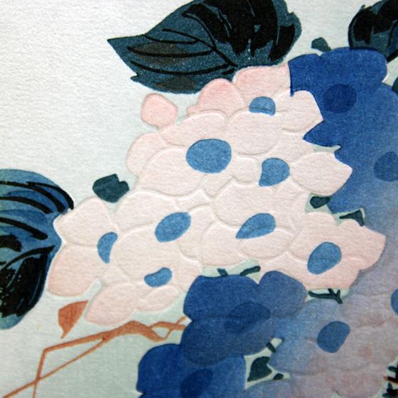 歌川広重 紫陽花に翡翠